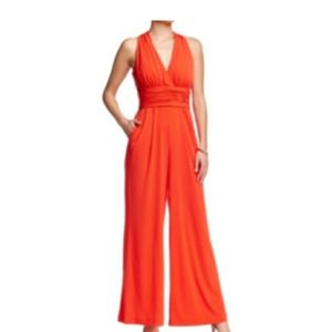 Eliza J Orange Jumpsuit